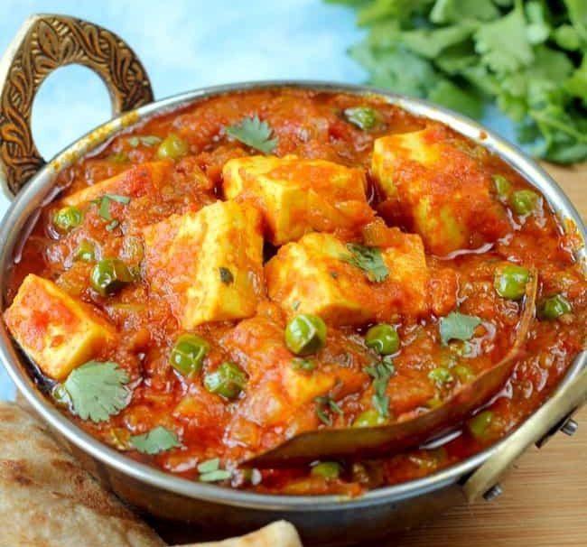 Matar paneer - Top 5 Indian Dishes